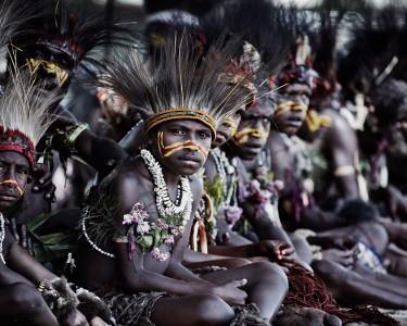XV 85 - Nikum Nusu Tribe , Goroka , Eastern Highlands. Papua New Guinea - 2010 - 100 x 120 cm.jpg