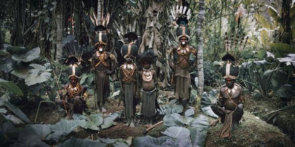 XV 94 - Bartholomeuw, Rubin, Gibson, Samson & Patrick, Kalam Tribesmen, Simbai, Nukunt Village, Bismark Range, Central Highlands- Papua New Guinea, 2010 - 100 x 180.jpg