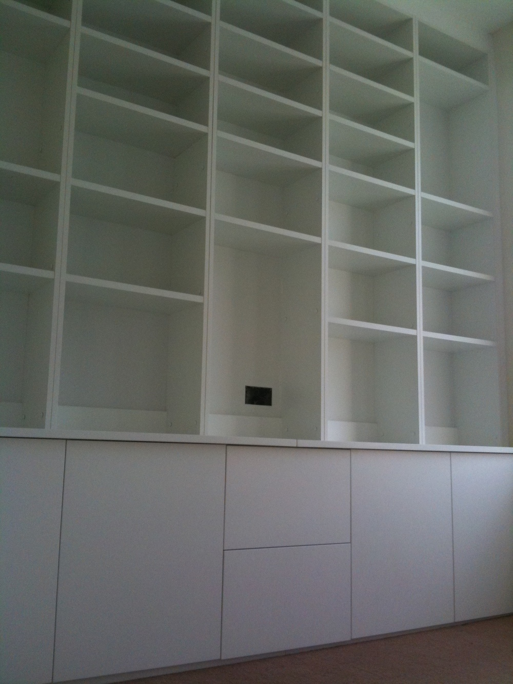 Home office shelving & cabinets.