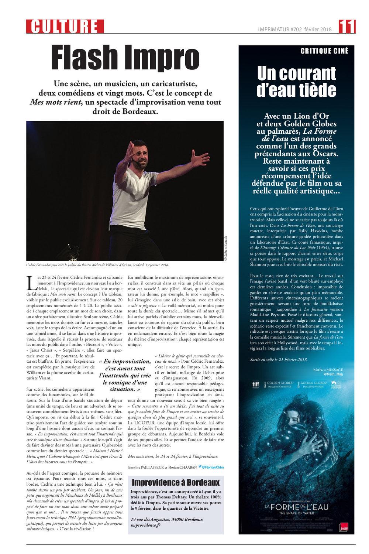 Article Journal IMPRIMATUR MMR Bordeaux