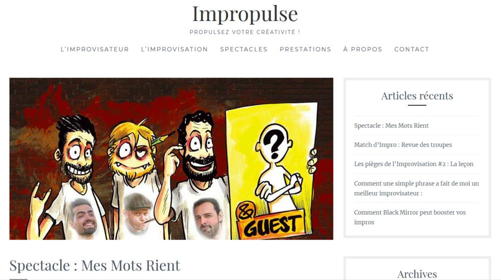 Blog Impropulse, article du samedi 3 mars 2018 : cliquez  ici