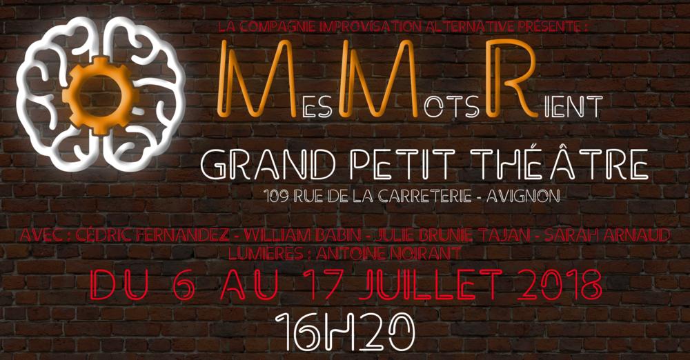 Mes Mots Rient à Avignon - Festival OFF 2018