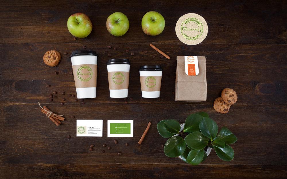 Health Food Cafe Labelling Design