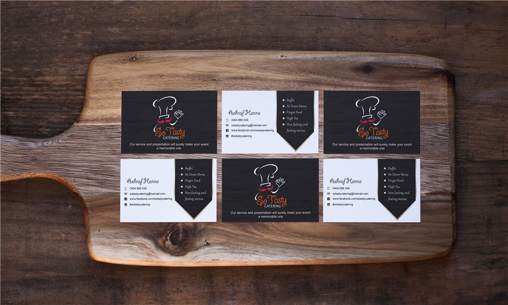So Tasty Catering Business Card Design