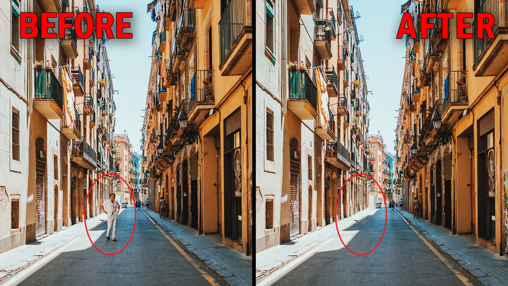 How to remove any objects from a photo