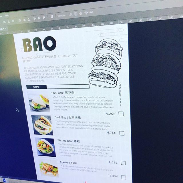 Designing food menu has made me hungry. 🤷♂️🍔