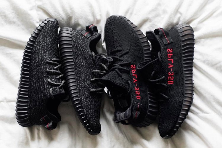 Early Look Yeezy Boost 350 V2 Black & Red Bred