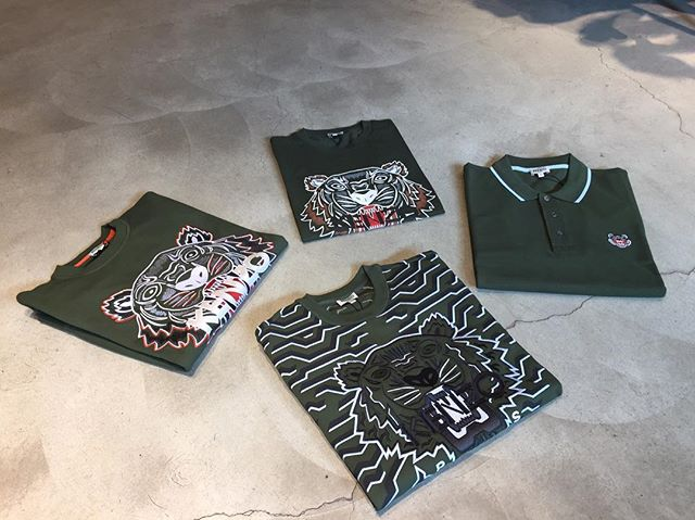 GREEN KENZO available @hombreamsterdam Jan Evertsenstraat 70/72! #hombreamsterdam #kenzo #kenzotiger