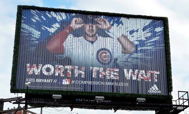 Adidas made it clear how they felt about the Cubs starting 2014 with Kris Bryant in the minors. Image: Adidas