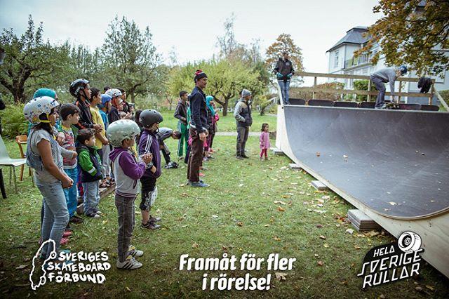 Nu sjösätter @sverigesskateboardforbund tillsammans med oss projektet Hela Orten Rullar. Arbetet går ut på att ta fram en modell som underlättar för andra föreningar att komma igång med integrationsarbete. Projektet finansieras av #framåtförflerirörelse