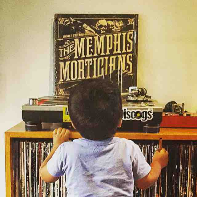 Corrupting young minds. Thanks for the photo @egoodman3781 and expect a visit from child services for exposing your child to such horrible music!  #memphismorticians #thememphismorticians #rockandroll #vinyl #psychobilly #rockabilly #punk
