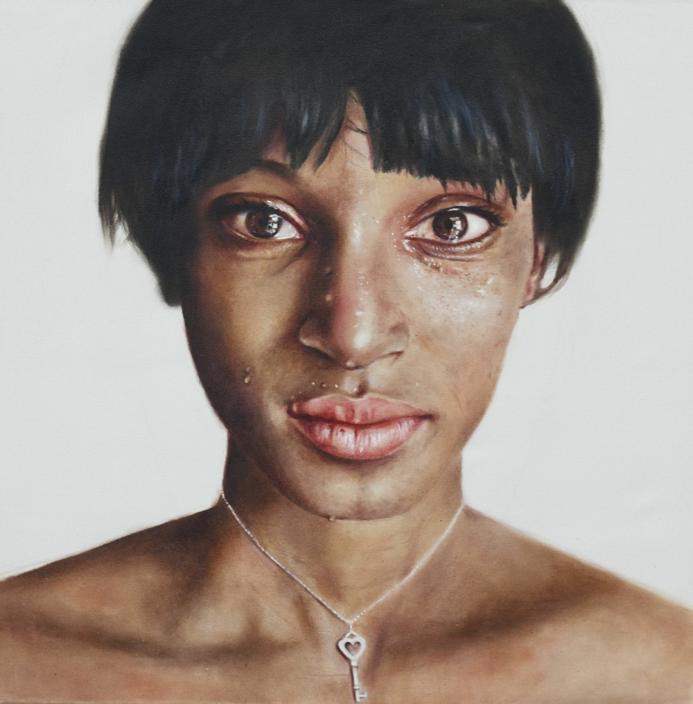 Trafficking survivor, 36x36in, oil on canvas  $12,500 Brand for Life series