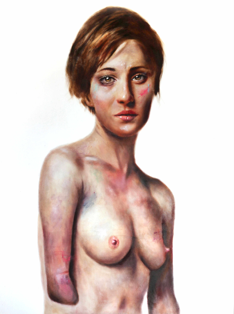 Nadia, Oil on canvas, 208x150cm, $25,000  Stolen Faces series