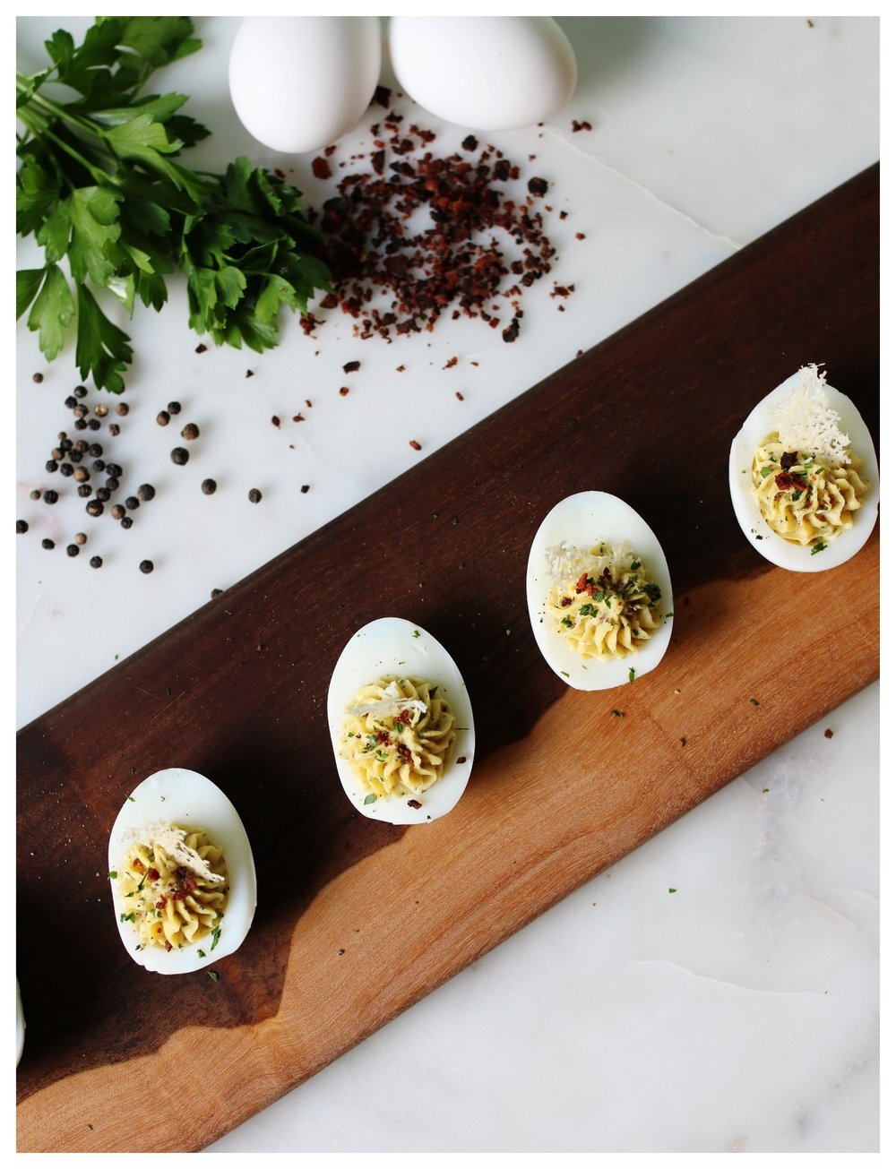 Carbonara Deviled Eggs