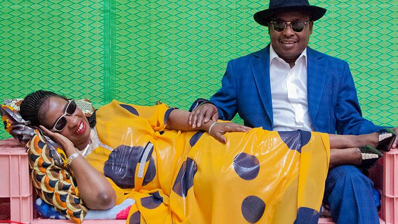 Amadou and Mariam- photo credit Hassan Hajjaj source: https://www.bricartsmedia.org/events-performances/bric-celebrate-brooklyn-festival/amadou-mariam-innov-gnawa-ahmed-gallab-dj-set