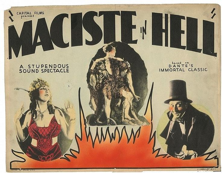 Maciste in Hell Poster| Image source: http://inprincipioerailmale.blogspot.com/2016/04/maciste-allinferno-1925.html