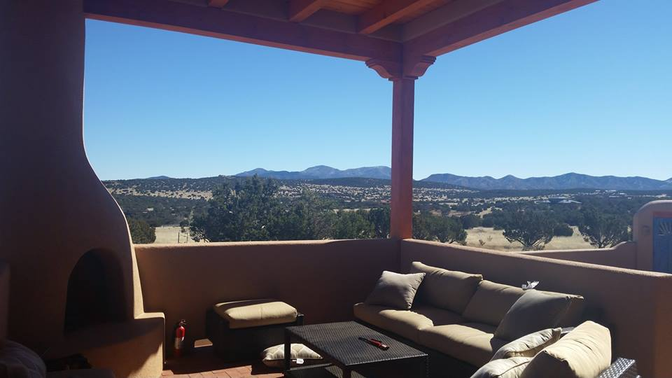 The patio of my mother's home in the mountains to the East of Albuquerque, NM.