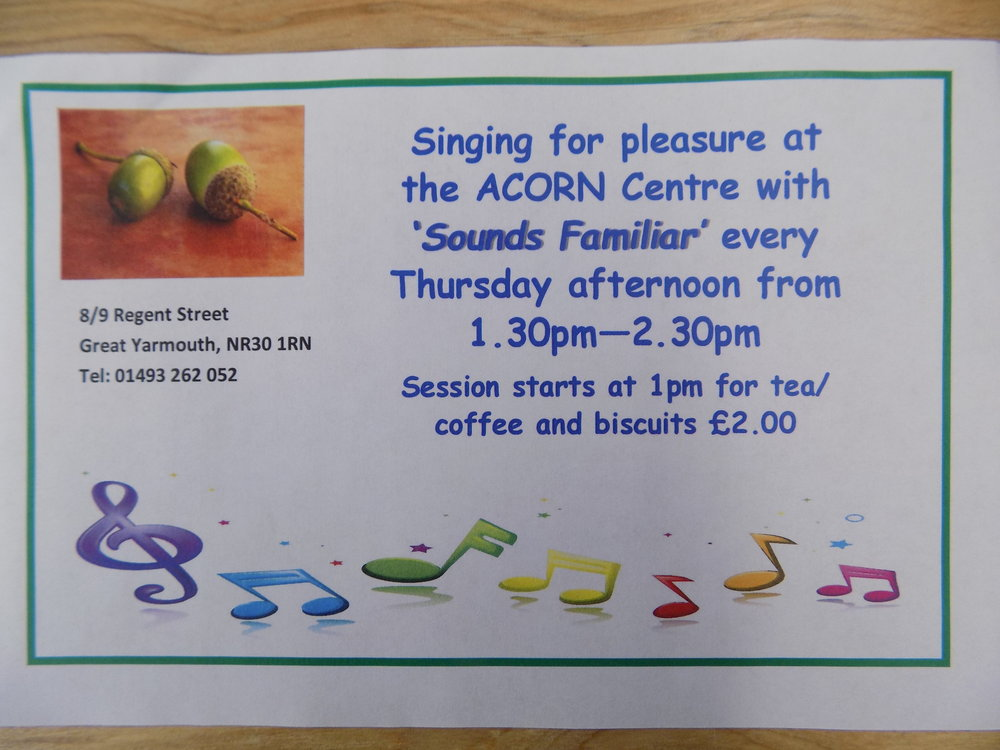 Come along for a sing a long. Only £2.00