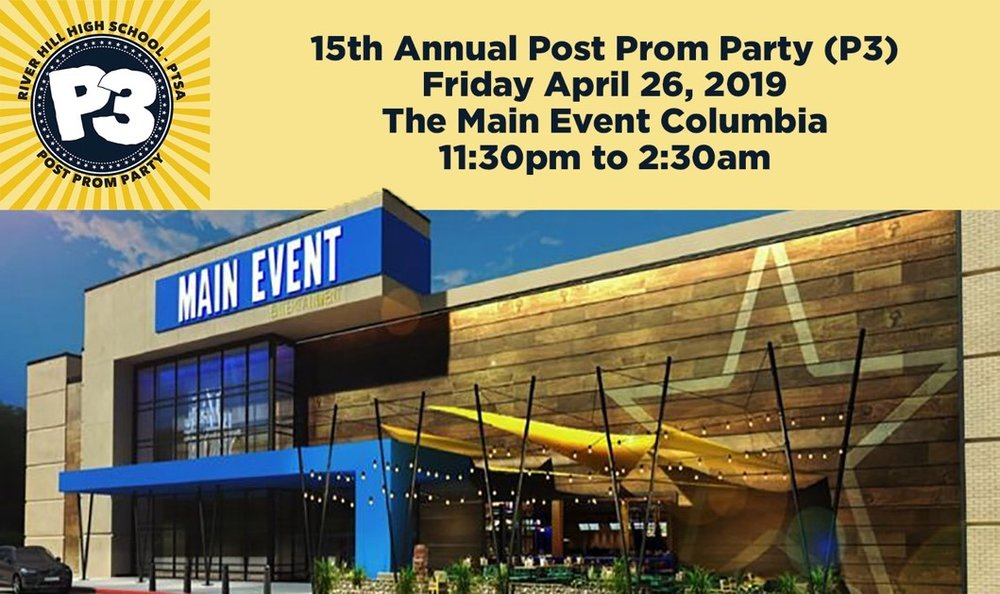 This years P3 will be held at The Main Event 10300 Little Patuxent Pkwy, Columbia, MD