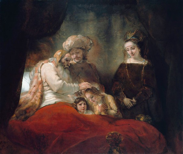 Rembrandt_-_Jacob_Blessing_the_Children_of_Joseph_-_WGA19117