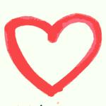 A hand drawn heart