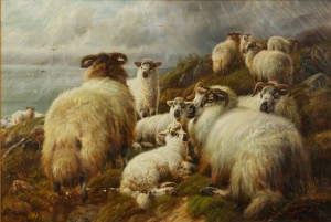 'Highland_Sheep'_by_Charles_A._Watson_(1857-1923)
