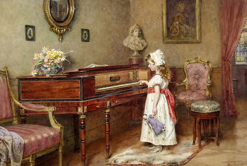 George_Goodwin_Kilburne_Piano_practice