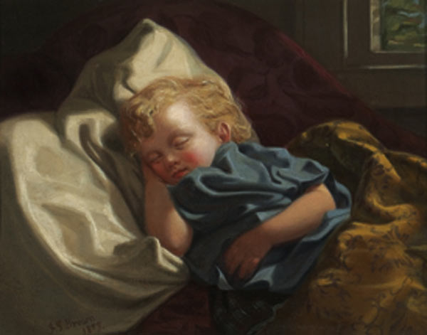 John_George_Brown_-_Sleeping_angel