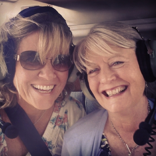On a fun helicopter ride in Kona, fast friends forever because of our time together in ministry.