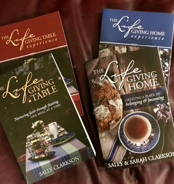 And Don't Forget! I am giving away 4 sets of these Lifegiving Partner books. Share the post, follow me on Instagram and leave a comment about what you did. 2 winners will be chosen from comments here & facebook and 2 sets will be chosen from the comments left on Instagram:  https://www.instagram.com/sally.clarkson/   And, thanks again for all of your notes, emails and comments about how you are loving the book. Maybe we will change the dinner times of families all over the world. I appreciate all of you so much. :)