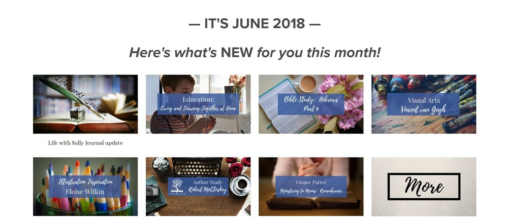 Our June content.