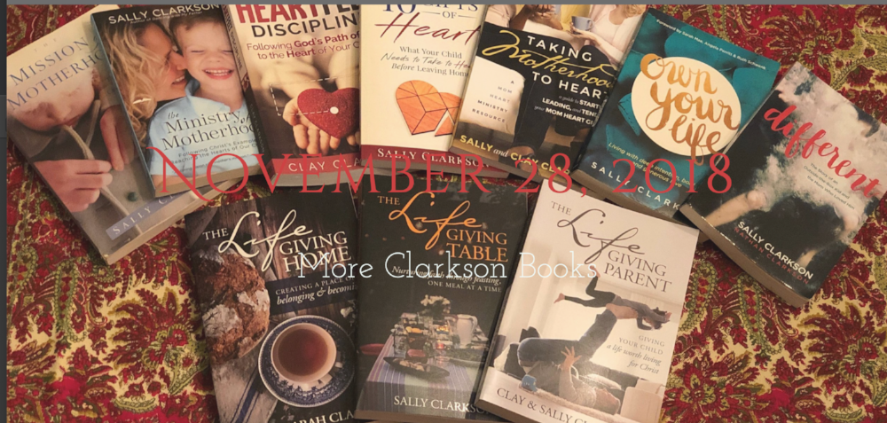A Christmas Gift that will inspire and encourage! The Clarkson books, of course! :)