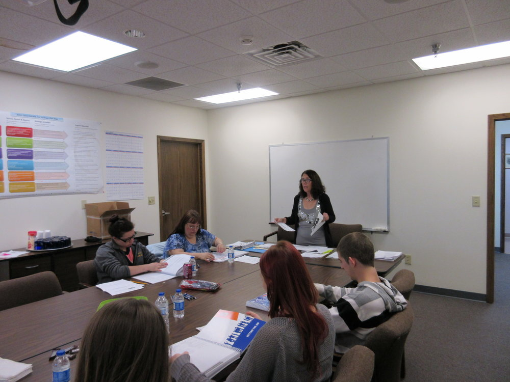 Students participating in CSS training