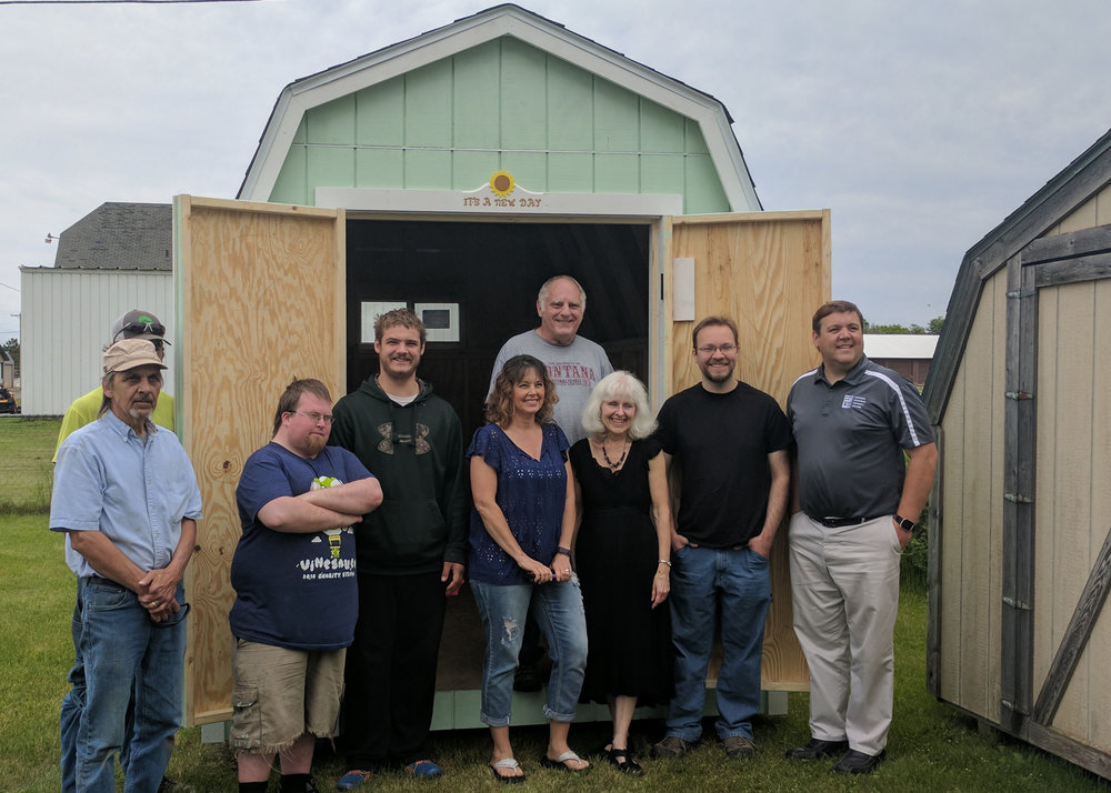 New Day Shelter Shed Donation