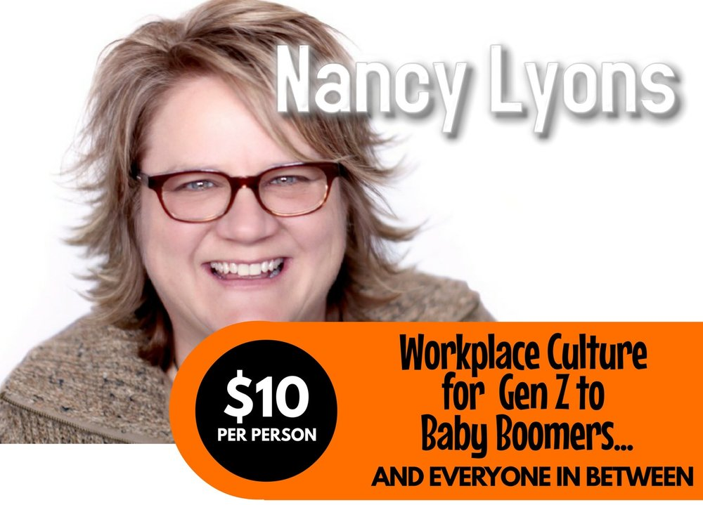 Nancy Lyons Workplace Culture Event Promo Photo