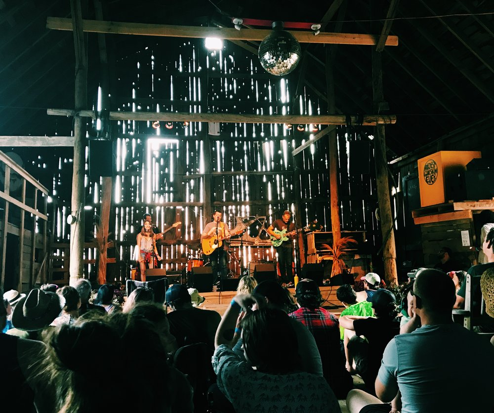 Everything we saw in The Barn was magical including this set by the Stepladders.