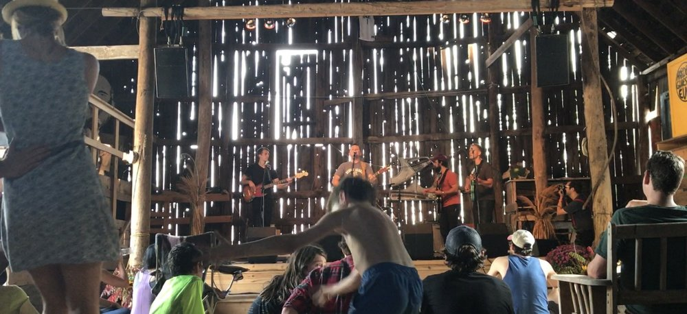 A shot from in the barn at Harvest Gathering