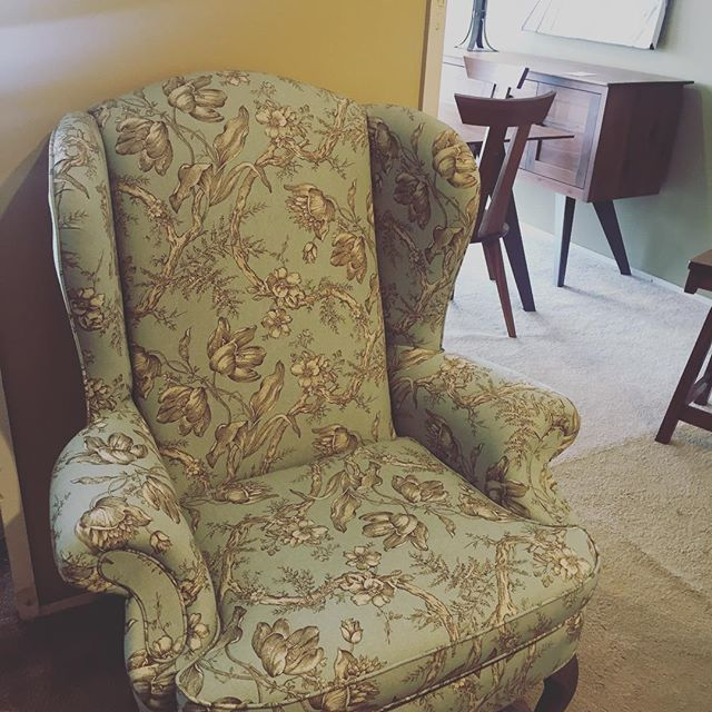 "Jane Austen once said, ""Ah! There's nothing like staying home, for real comfort."" She left out the part about a cozy chair but we've got it covered. . . . . . . #furniturefun #minnesotasmallbusiness #textilelove #patternlove #janeaustenquote #mnshopping #homedecorblog #cozyhome #beautifulchair #bluechair #livingroomideas #livingroomdecor #smallbusinesssaturday"