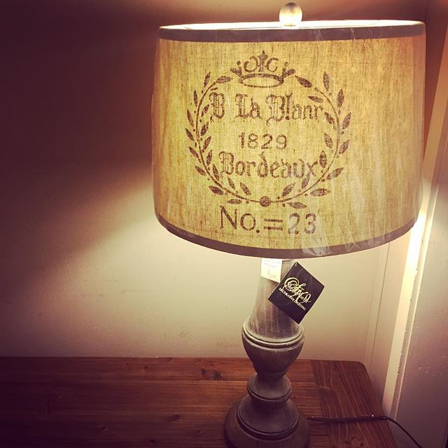 "Madonna Ciccone once said ""I like to change. A new lamp, a piece of art, can transform a room."" We agree. . . . . . . . . #lampshade #Ilovelamp #frenchhomedecor #homedecoraddict #stillwatermn #shopstillwater #Bordeauxwine #bordeaux #vintageinspireddecor #stillwaterbound #lampstagram #1800s #homegoods #homedecor #lampsofinstagram"