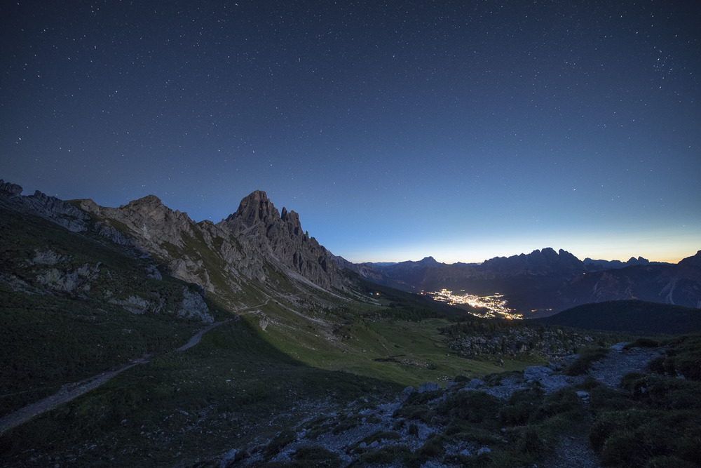 Cortina shining from down the valley