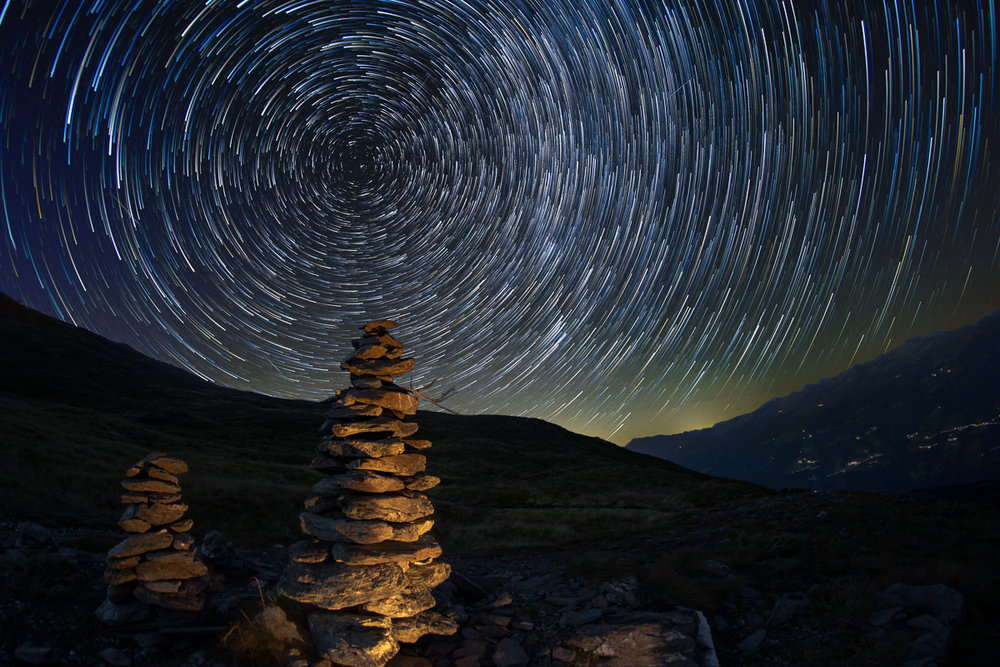 Startrails at Kristallhütte