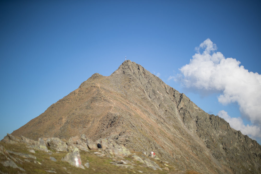 The ridge leading to the summit