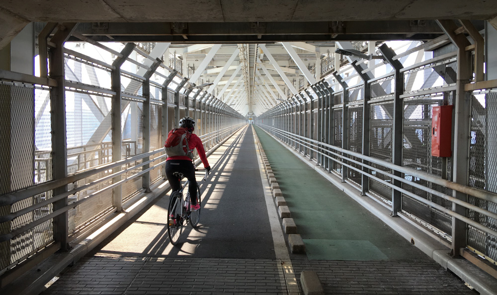 Under the Innoshima Bridge. 1.2km of straight line makes for some nice vanishing points