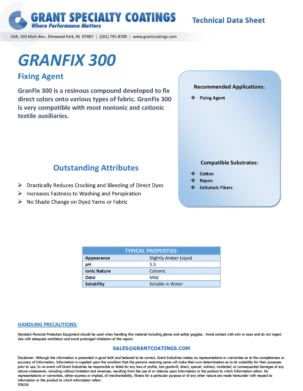 Textile Auxiliary Fixing GranFix 300