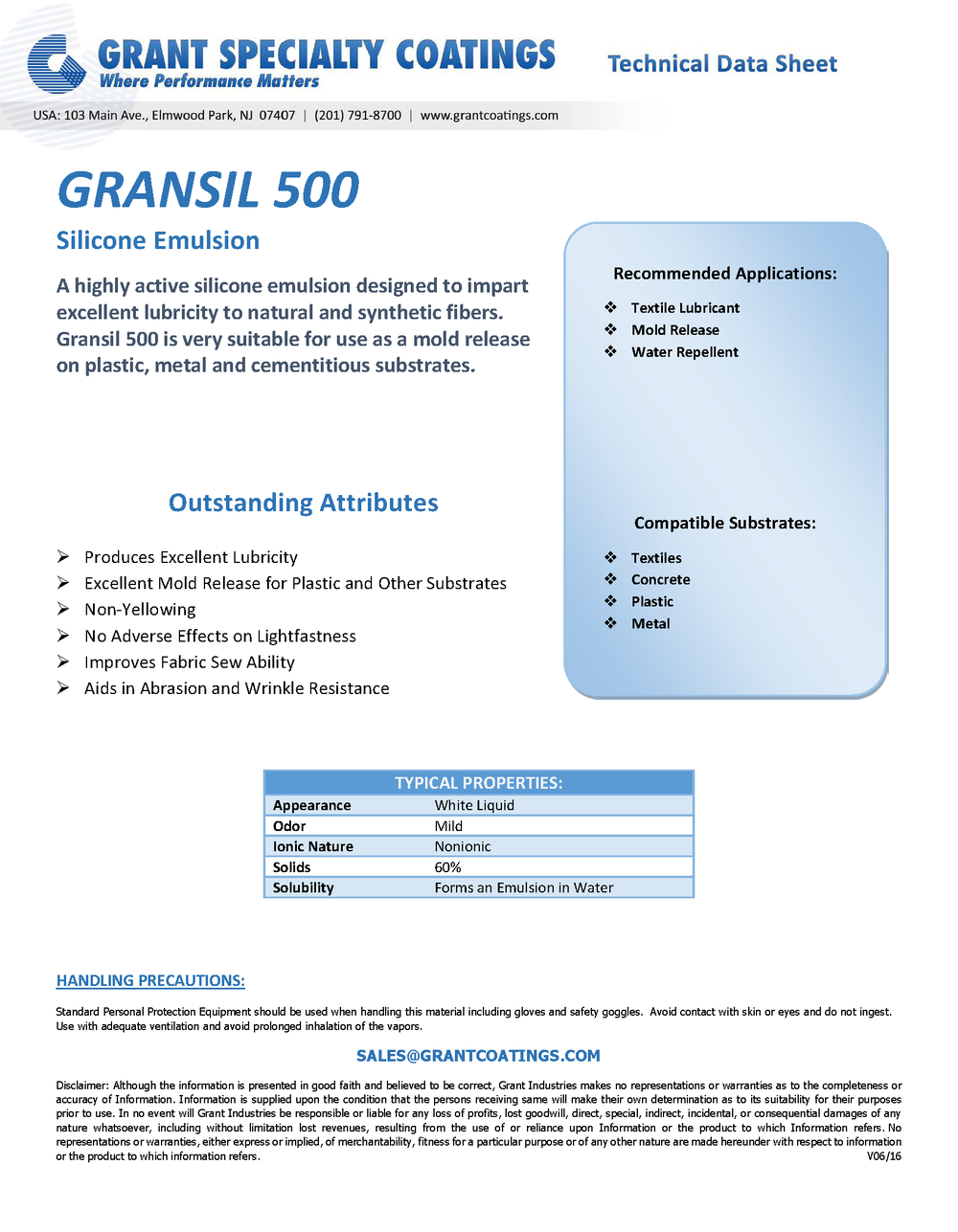 Textile Auxiliary Softener Lubricant GranSil 500