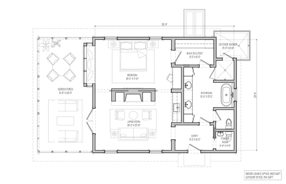 Crenshaw Cabin Floor Plan
