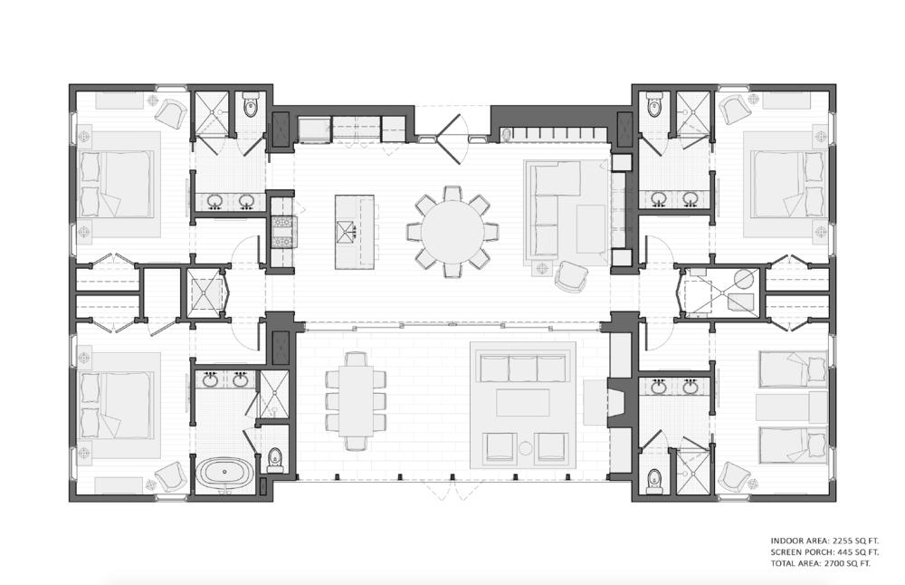 Sand Valley Residences - Dunes Cottage Floor Plan