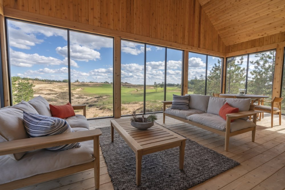 Crenshaw Cabin Screened in Porch View Overlooking Sand Valley 18