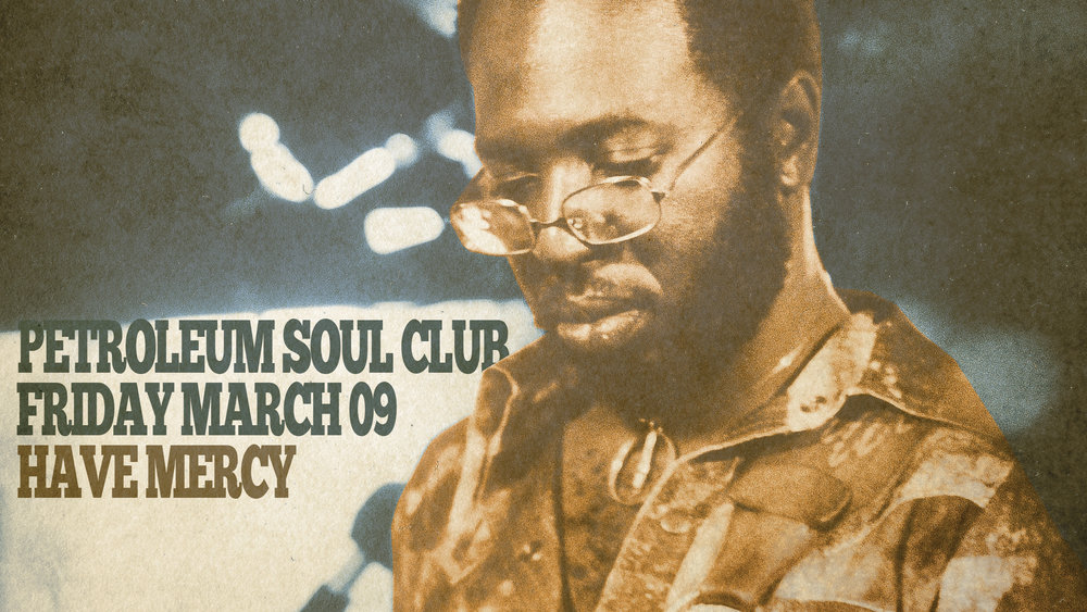 Petroleum Soul Club is Edmonton's own 45 RPM vinyl dance party featuring selectors with a love for the hits of Motown, Stax, and the million other independent record labels that put out soul music in the 1960s and 1970s!   Party kicks off at 9pm and as always, no cover charge!