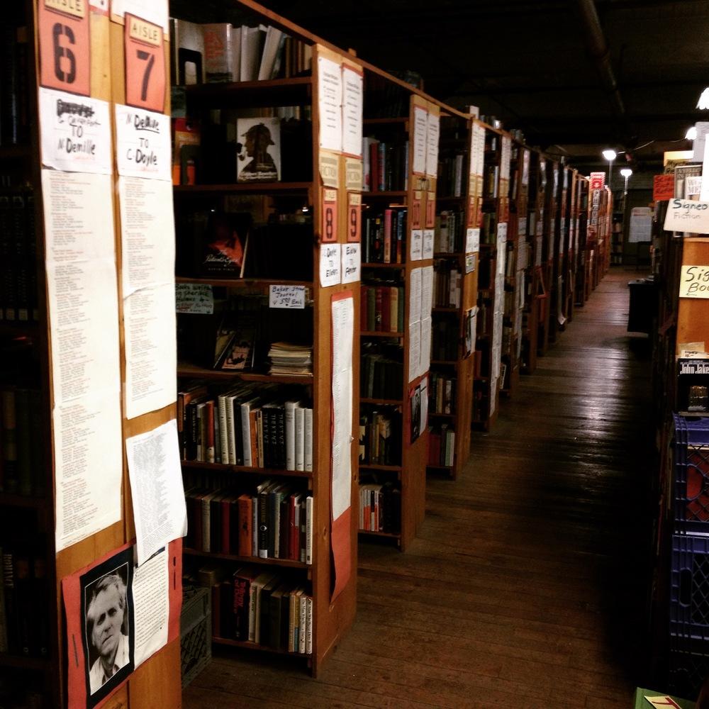 The Fiction Section at John K. King Books - Detroit, Michigan
